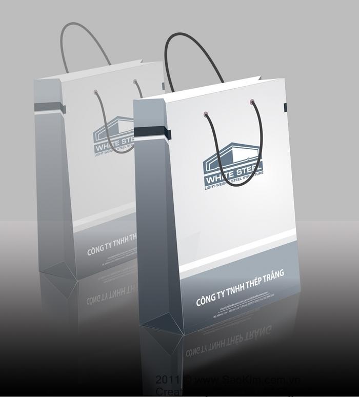 Thiết kế nhận diện thương hiệu Công ty Thép Trắng tại TP HCM
