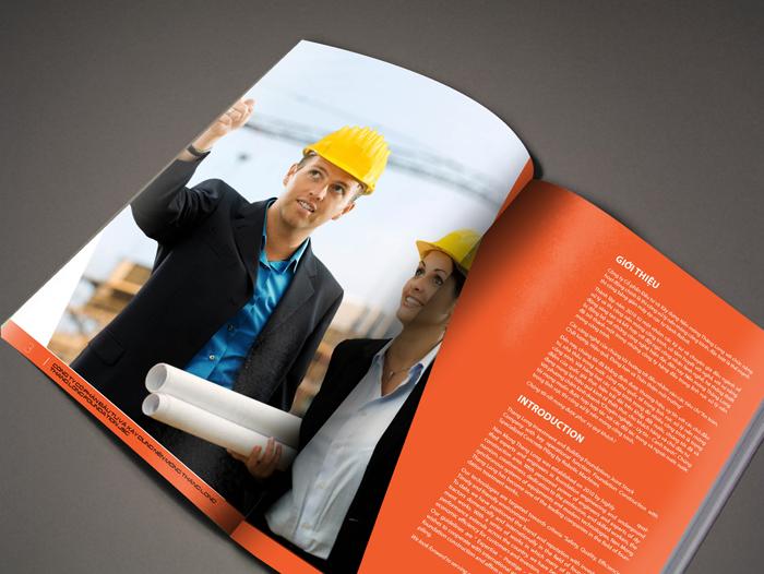 Thiết kế mỹ thuật hồ sơ năng lực công ty cổ phần đầu tư xây dựng nền móng Thăng Long tại Hà Nội