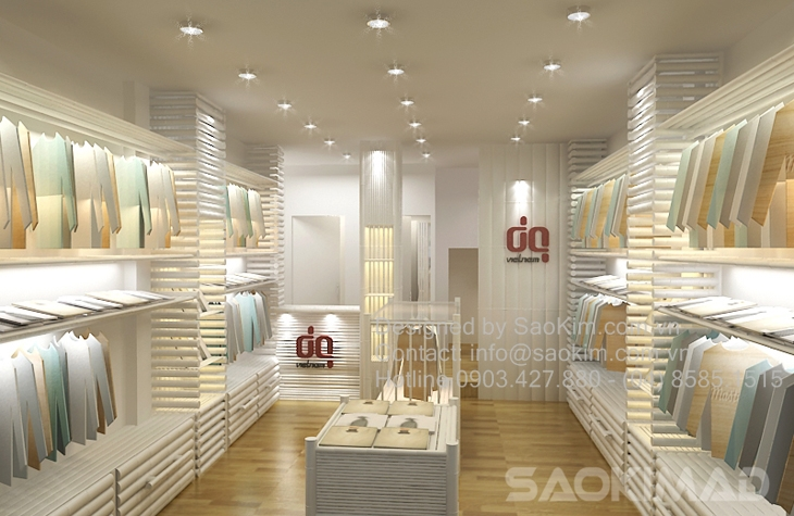 (Thiet ke thi cong showroom thoi trang DQ VietNam)