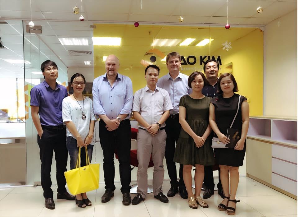 Hình ảnh trao đổi dự án đào tạo nghề thiết kế hợp tác giữa Đan Mạch - Việt Nam