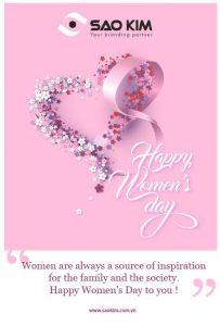 Happy Women's Day 8-3 - ảnh từ SaoKim Branding