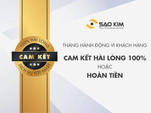 Cam kết dịch vụ tốt nhất - Hoàn tiền 100% nếu không hài lòng - ảnh từ SaoKim Branding