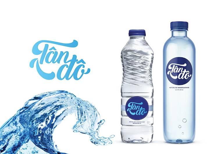 Mẫu thiết kế bao bì nước tinh khiết Tân Đô.