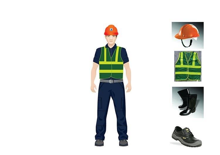 Mẫu thiết kế đồng phục công nhân của Delta.