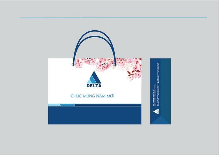 Mẫu thiết kế túi quà tặng của Delta.