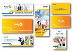 Thương hiệu Sao Kim thiết kế nhiều hạng mục nhận diện thương hiệu cho PVCB - ảnh từ SaoKim Branding