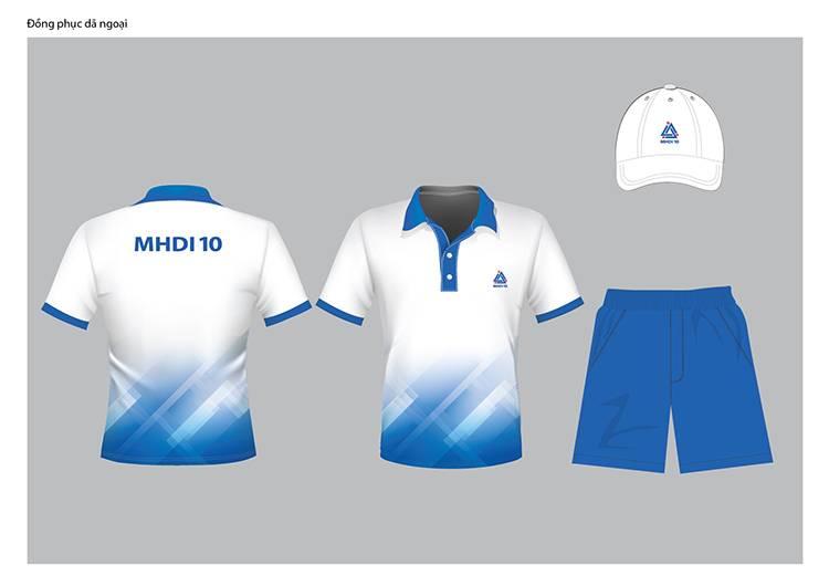 Thiết kế mẫu áo dã ngoại của công ty MHDI10.