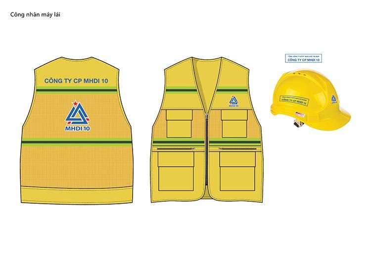 Thiết kế mẫu áo công nhân máy lái của công ty MHDI10.