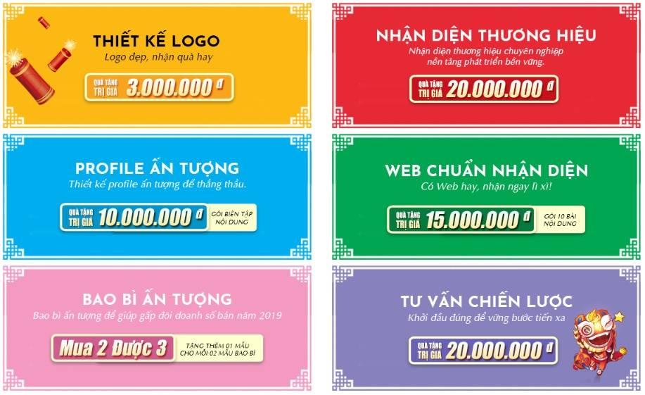 Sao Kim mang đến 6 gói phát triển thương hiệu cùng nhiều phần quà hấp dẫn cho khách hàng nhân dịp xuân mới.