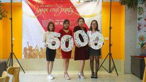 Hơn 5000 khách hàng là con số Sao Kim đã đạt được.