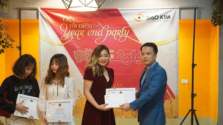 Phần thưởng là ghi nhận của lãnh đạo Công ty đối với những thành tích xuất sắc của các Saokimers.