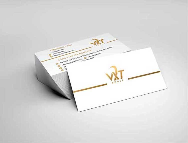 Mẫu thiết kế namecard của VXT Group.