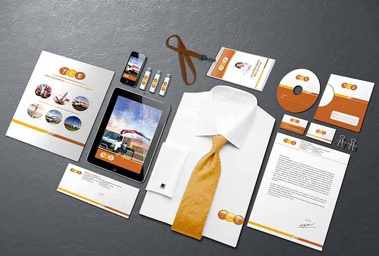 Thiết kế ứng dụng văn phòng thương hiệu TCE.