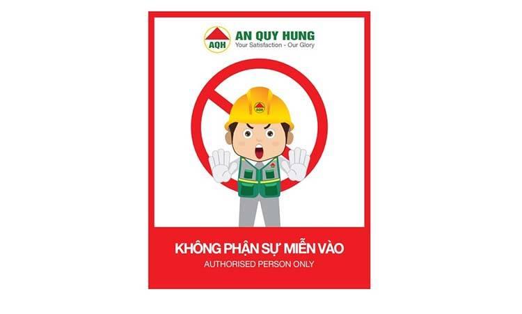 Mẫu thiết kế biển bảng công trình An Quý Hưng do Sao Kim thiết kế.