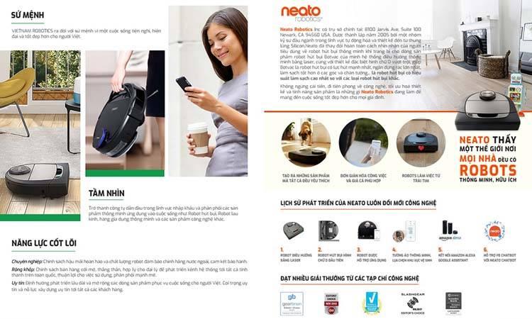 Thiết kế catalogue của Vietnam Robotics.