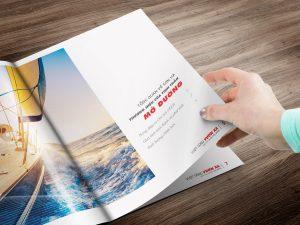 Thiết kế báo cáo thường niên Sơn Hà thể hiện rõ nét tinh thần mở đường - ảnh từ SaoKim Branding