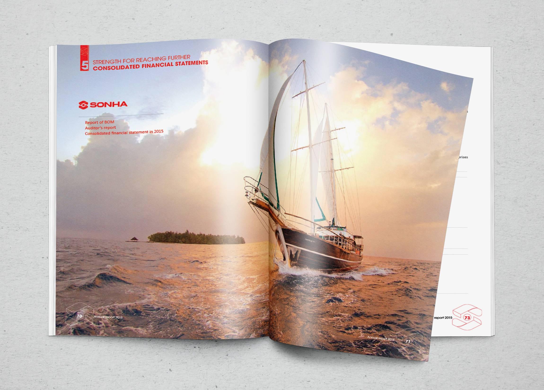 Thiết kế báo cáo thường niên Sơn Hà do Sao Kim thiết kế.
