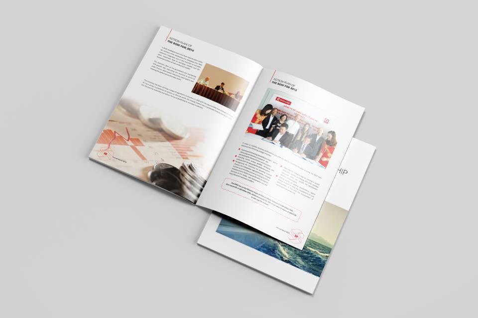 Thiết kế báo cáo thường niên Sơn Hà hấp dẫn, lôi cuốn người đọc.