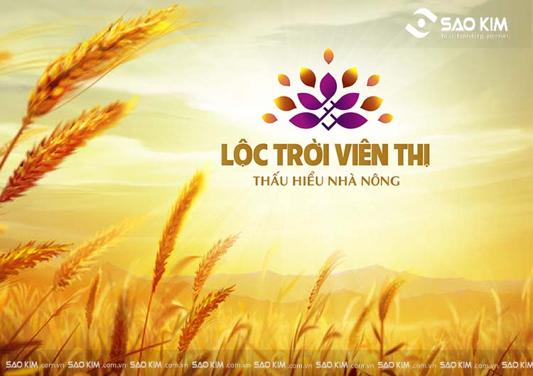 Thiết kế logo của Lộc Trời Viên Thị do Sao Kim thực hiện.
