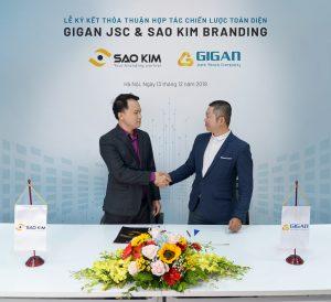 Lễ ký kết thỏa thuận hợp tác chiến lược giữa SAO KIM BRANDING và GIGAN JSC - ảnh từ SaoKim Branding