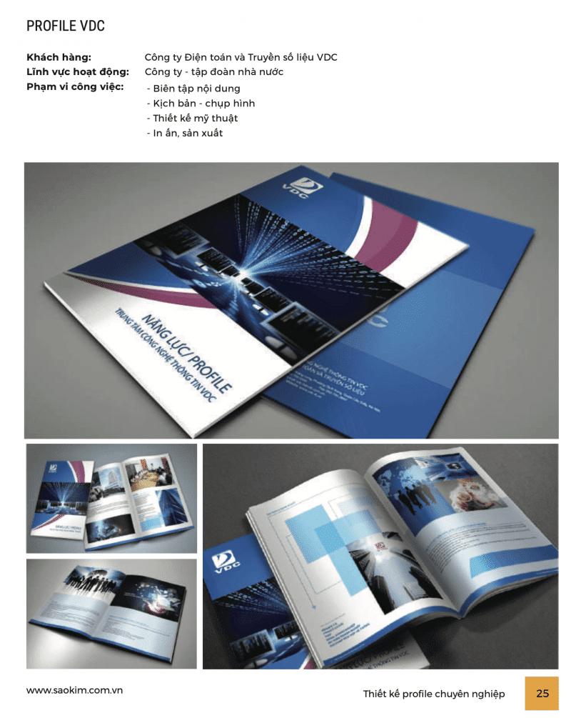 Thiết kế profile công ty công nghệ VDC