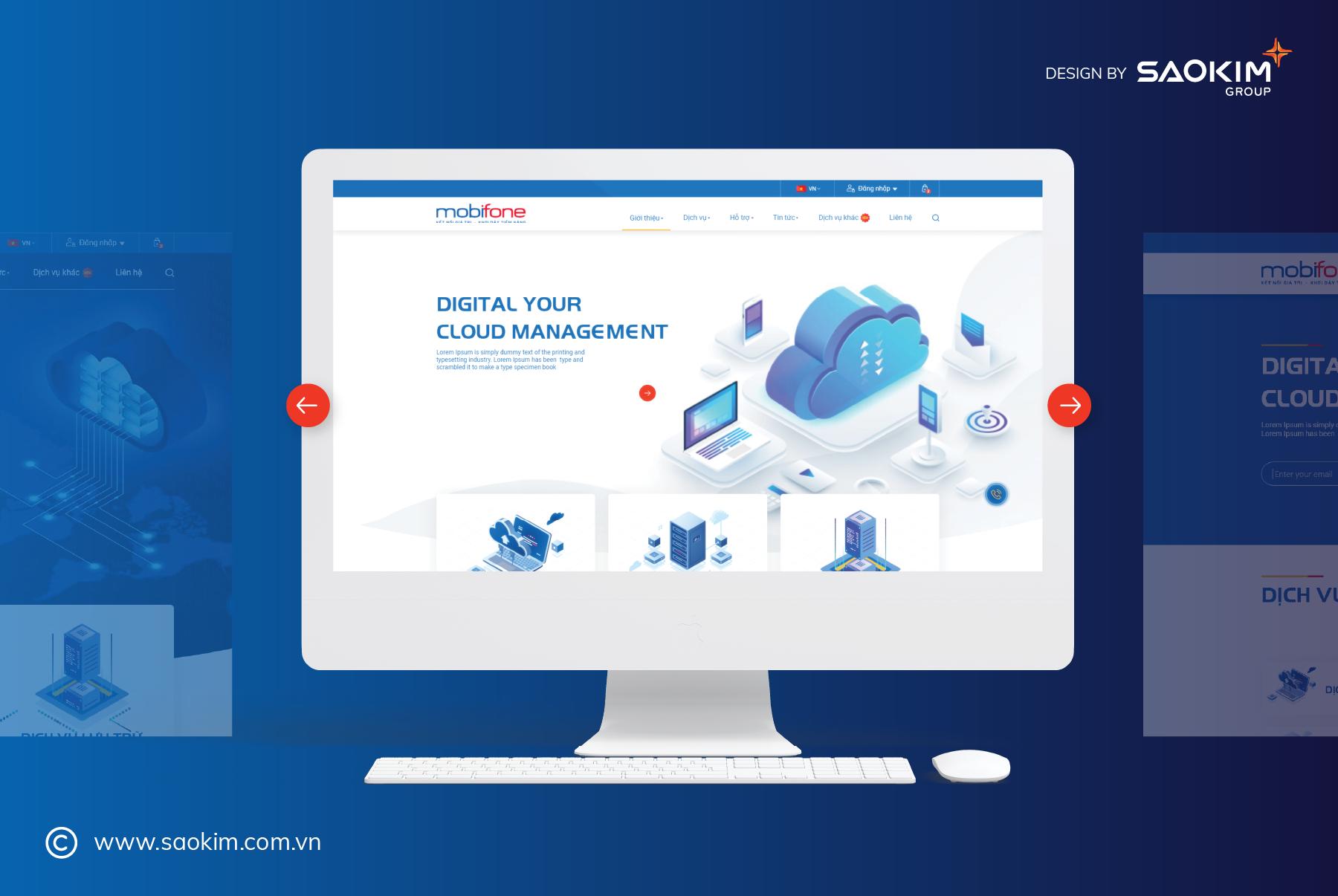 [saokim.com.vn] Thiết kế website do Sao Kim thực hiện cho Tập đoàn Mobifone