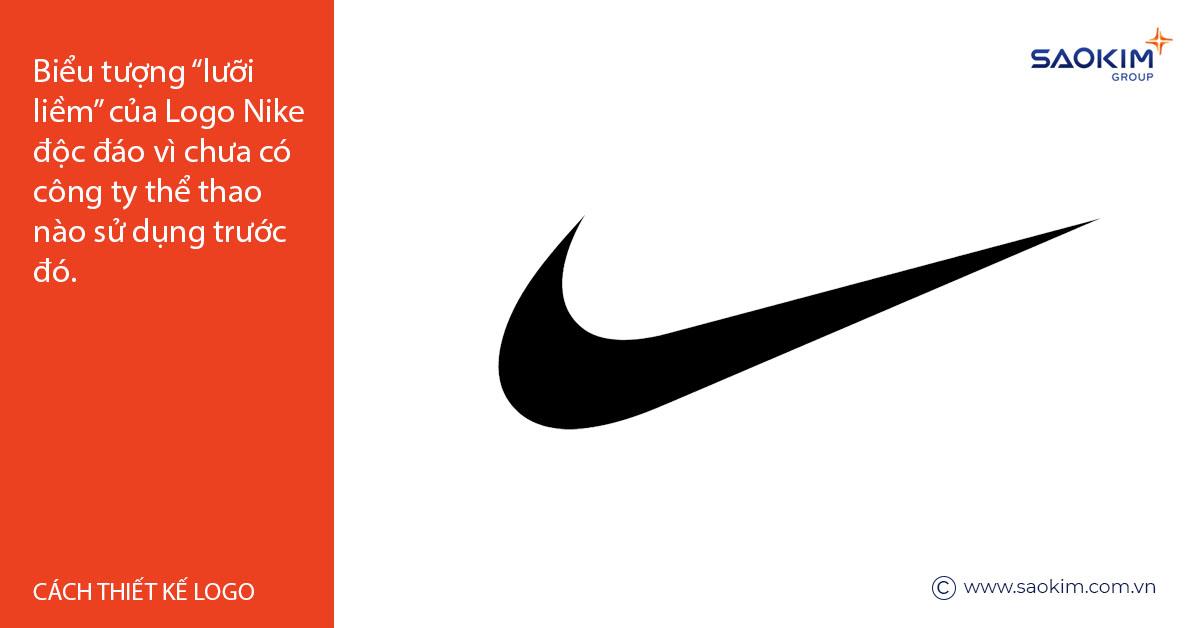 Logo Nike là một thiết kế độc đáo, đáng nhớ