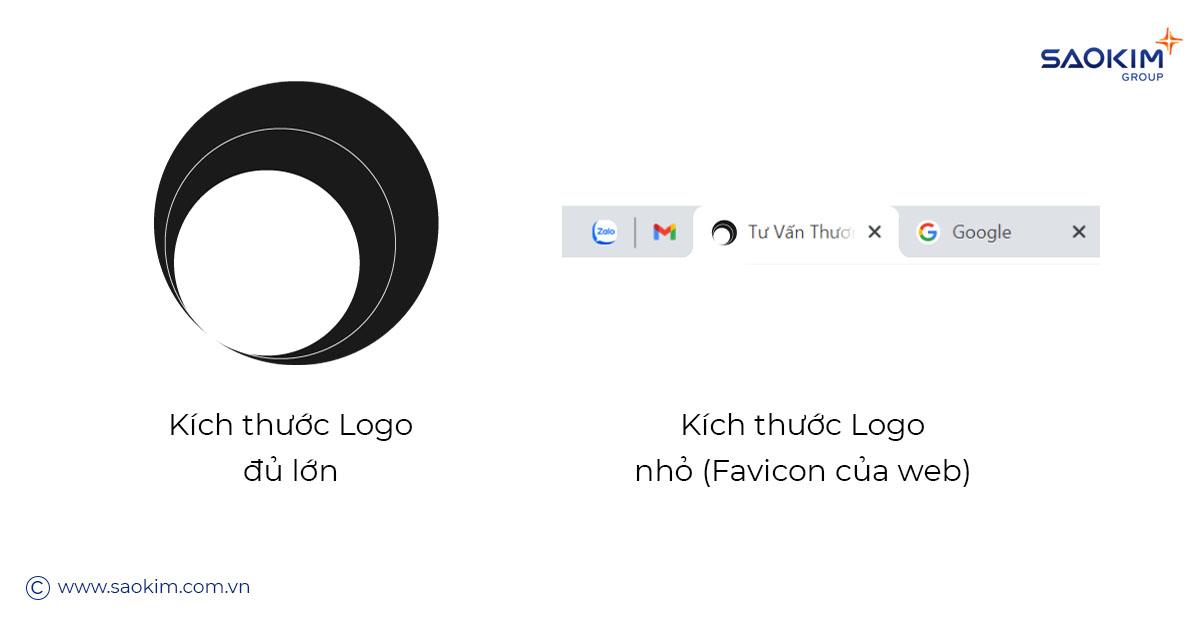 Cách thiết kế Logo tốt là phải thử nghiệm phóng to, thu nhỏ Logo