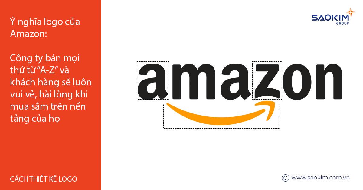 Cách thiết kế logo: Thiết kế Ý nghĩa như Logo Amazon