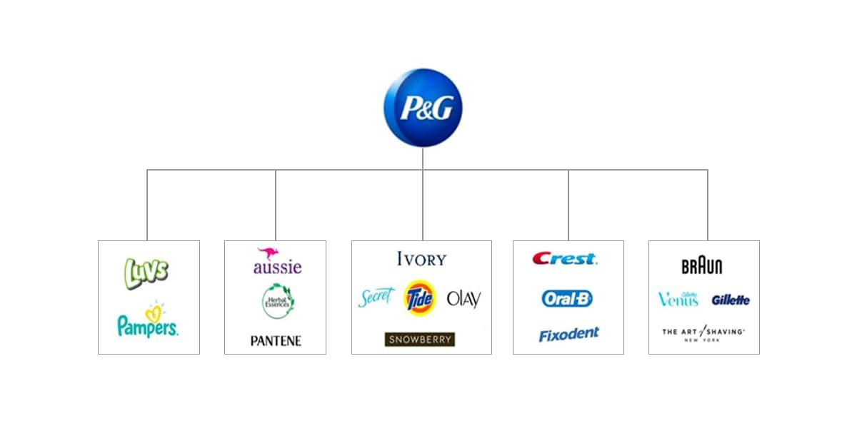 Kiến trúc thương hiệu kiểu Hose of brands của P&G