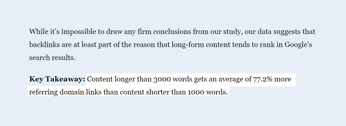 Bài viết chuẩn SEO dài có xu hướng tốt hơn