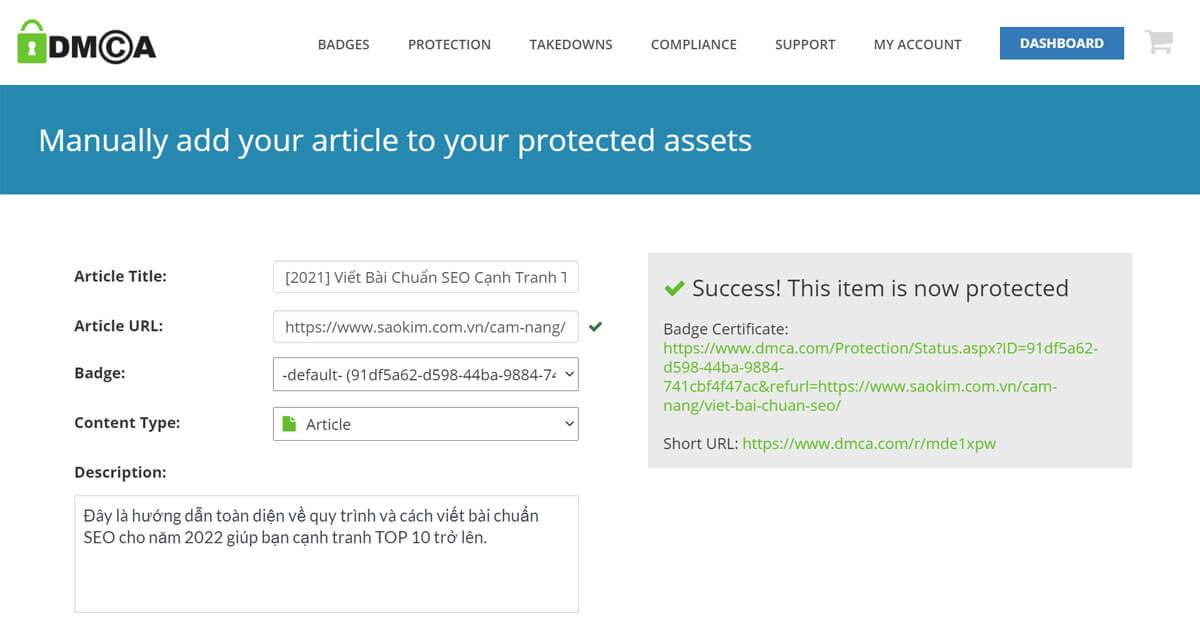 Bảo vệ bàn quyền kỹ thuật số cho bài viết SEO với DMCA