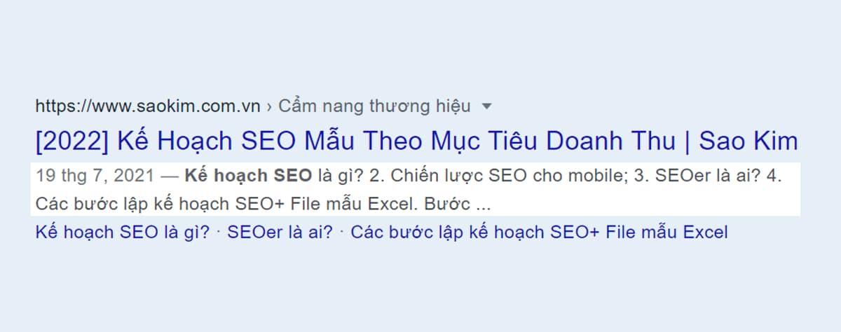 Tiêu chí viết bài chuẩn SEO: Google tự lấy đoạn trích phù hợp làm mô tả