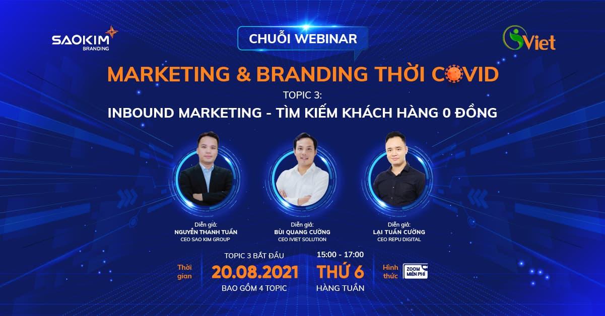 Webinar: Inbound Marketing - Tìm kiếm khách hàng 0 đồng