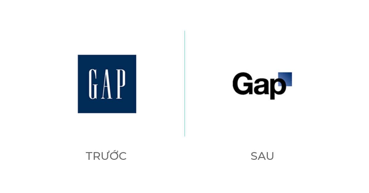 Ví dụ tái định vị thương hiệu Gap
