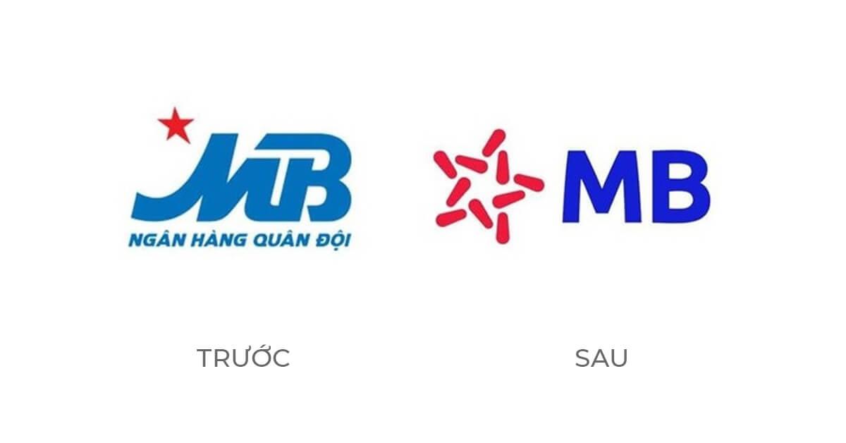 Ví dụ tái định vị thương hiệu MB Bank
