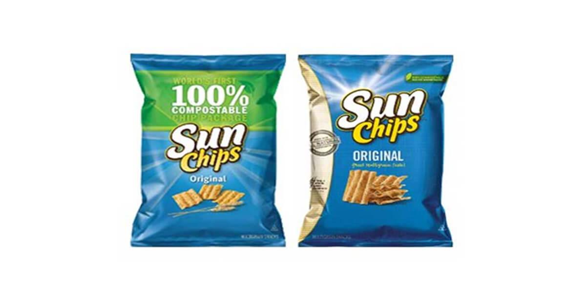 Ví dụ tái định vị thương hiệu Sun Chips